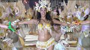 carnival queen brunette girl