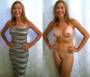 clothed and naked milfs