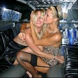 Paris and Nicky Hilton having fun in limo (x5)