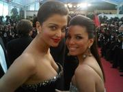 Eva Longoria and Aishwarya Rai at the Premiere of On Tour in Cannes on May 13, 2010