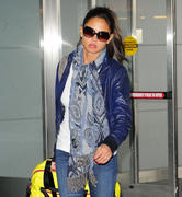 Vanessa Minillo at JFK Airport in NY 02-02-2011