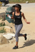 Brandy Norwood 3/25/10  - Jogging in some very tight pants - Great Ass!