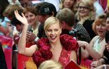 Charlize Theron arrives for the opening of the Moscow Film festival